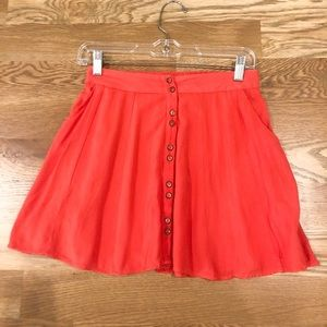 Kimchi Blue skirt in coral - size small